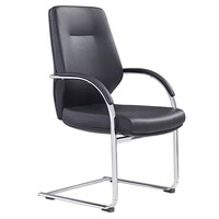Style Ergonomics Executive Boardroom Seating Visitors High Back Chair Black PU GRAND-VC