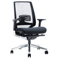 Style Ergonomics Executive Seating Medium Back Chair BIFMA Tested Black EVITA-L
