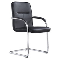 Style Ergonomics Visitors Chair Boardroom Seating Black PU ROSE