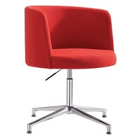 Style Ergonomics Visitors Chair Swivel Height Adjustable Seating Red HULA-R