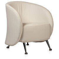Style Ergonomics Visitors Tub Chair Tubchair Seating White PU RUBY-W
