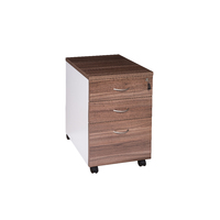 Mobile Office Desk Pedestal 2 Drawer 1 File Premier Furniture Addition 468 x 510mm Casnan White