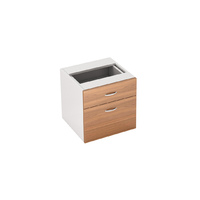 Fixed Office Desk Pedestal 1 Drawer 1 File Premier Furniture Addition 464 x 510mm Virginia Walnut White