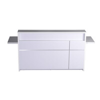Rapidline 5-0 Reception Counter Desk Gloss White Veneer