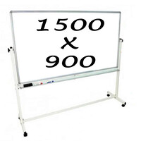Whiteboards Direct Mobile Whiteboard Double Sided Pivoting Commercial Magnetic Writing Board 1500 x 900