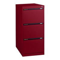 Statewide 3 Drawer Filing Cabinet File Storage Office Steel Aussie Made Life Time Warranty Burgundy