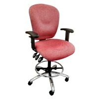 Balanz Drafting Office Chair Fully Ergonomic Seat Gas Lift Architect Stool Wortley Tekno Crimson