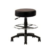 Rona Drafting Gas Lift Bench Seat Mobile Stool Black