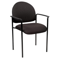 Visitors Chair Stacking with Arms Office Furniture Seating YS Design Black YS11A