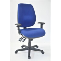 Chairlink Ergonomic Office Chair High Back with Arms Desk Seating AFRDI Rated 10yr Warranty Boss