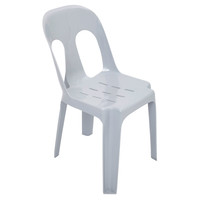 Rapidline Outdoor Event Chair Plastic Stackable Lightweight 150Kg Rating Pipee Grey