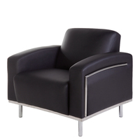 Visitors Tub Chair Reception Seat Office Furniture Seating YS Design Sienna Black YS901