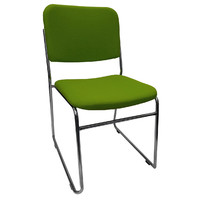 Prodigy Visitors Office Chair Sled Base Office Seating Chrome Evo Rod Green