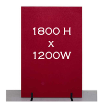 Freestanding Partition Office Furniture Dividers Room Divider 1800mm X 1200mm Cherry
