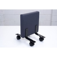 Freestanding Partition Mobile Feet Office Furniture Screen Dividers Set of 2 Twin Wheel Plastic Caster Black