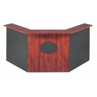 Merlin Angle Reception Desk Front Office Counter 1800/750 x 1800/750mm Redwood Ironstone