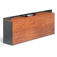 Merlin 8 Drawer Filing Cabinet Office File Storage Range Bank Wild Cherry