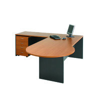 Excel P End Desk & Return Workstation Office Furniture 2250 W x 750/900 D x 720mm H Red Cherry