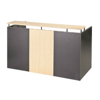 Reception Desk Front Office Counter 1800mm Wide Swan Street Charcoal Beech