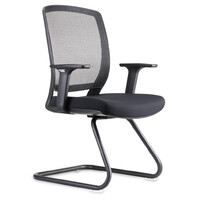 Rapidline Visitors Office Chair Boardroom Sled Base Seating Black Mesh Hartley