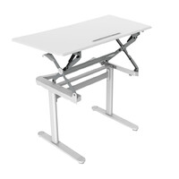 Sit Stand Gas Lift Operated Height Adjustable Office Computer Desk Rapid Surge