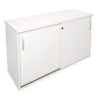 Buffet 2 Doors Lockable Cabinet Credenza 730mm H x 1800mm W Shelf White