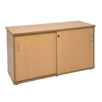 Buffet 2 Doors Lockable Cabinet Credenza 730mm H x 1200mm W Shelf Beech