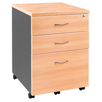 Mobile Pedestal with Key lock 2P 1F Office Cabinet Under Desk Drawers
