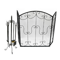 Fireplace Set Screen and Tools Package