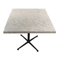 Marblelight 800mm Square Table Top and Black Pedastal Base Package
