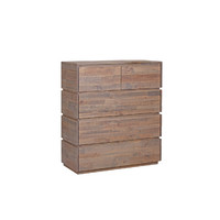 NZ Pine Timber Tallboy 1000 x 450 x 1150 Homefurn Portsea Aged Pier 2917 PBT
