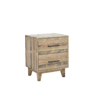Timber Bedside Table 3 Drawer Chest of Drawers NZ Pine 580 x 425 x 655H Aged Pier 2616 MBT