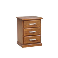 Homefurn Timber Bedside Table 3 Drawer Chest of Drawers NZ Pine 480 x 400 x 630H Arizona 1016 ABT