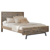 Homefurn Queen Bed Paterson NZ Pine Timber Heritage Wharf 6707 PPQ