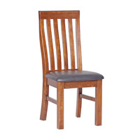 Cargo Timber PU Seat Dining Chair New Zealand Pine 3624 CPU Farmhouse