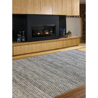 The Rug Collection Braid Hive 100% Wool Flatweave 160 x 230cm Denim
