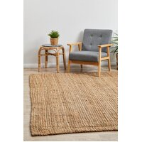 Rug Culture Chunky Natural Fiber Barker Flooring Rugs Area Carpet 220x150cm