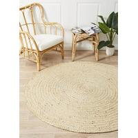 Diva Bleached Natural Flooring Rug Area Carpet 120x120cm