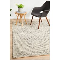 Rug Culture Carlos Felted Wool Flooring Rugs Area Carpet Grey Natural 280x190cm