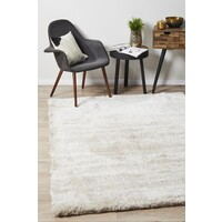 Twilight Shag Flooring Rug Area Carpet - Natural 225x155cm
