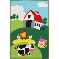 Kids Non Slip Barn Yard Farm Flooring Rug Area Carpet 150x100cm