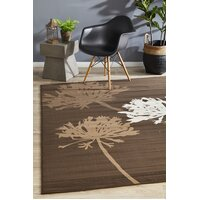 Rug Culture Agapanthus Bud Modern Flooring Rugs Area Carpet Brown Beige 230x160cm