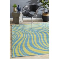 Beautiful Sway Blue & Green Flooring Rug Area Carpet 230x160cm