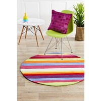 Candy Stripe Flooring Rug Area Carpet 120x120cm