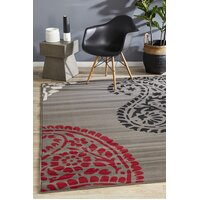 Rug Culture Funky Paisley Design Flooring Rugs Area Carpet Taupe 230x160cm