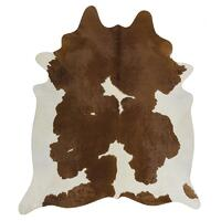 Rug Culture Exquisite Natural Cow Hide Brown White 170x180cm
