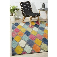 Rug Culture Trellis Pallete Flooring Rugs Area Carpet Multi 230x160cm