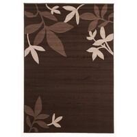 Rug Culture Modern Spring Leaf Flooring Rugs Area Carpet Brown 230x160cm
