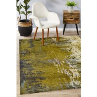 Monet Stunning Olive Green Flooring Rug Area Carpet 220x150cm