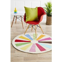 Multi Wheeled Kids Flooring Rug Area Carpet 150x150cm